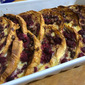 Raspberry and Chocolate Croissant Pudding