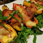Bacon Wrapped Mini Sweet Peppers Stuffed w/ Brie and Pickled Beets