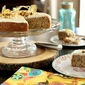 Banana cake with citrus cream cheese frosting