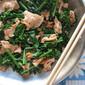 Pink Oyster Mushrooms, Broccoli Stir-Fry