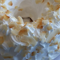 Coconut Chiffon Cake with Princess Frosting