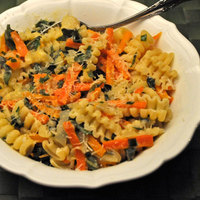 Pasta with Sage and Carrots; scaredy dog