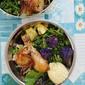 Chicken Broccoli Salad Bowl with Corn, Sweet Potato