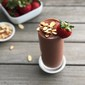 almond & chocolate-covered strawberry smoothie