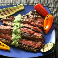 Skirt Steak with Parmesan Chimichurri Sauce