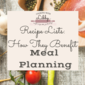 Recipe Lists: How They Benefit Meal Planning