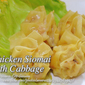 Chicken Siomai with Cabbage