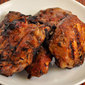 Barbecued Chicken Thighs; butterflies