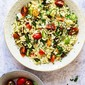 Greek Orzo Salad with Grilled Zucchini