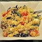 Couscous Salad, Caprese-style; hot!