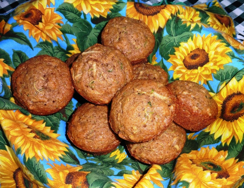 Zucchini and Apple Muffins