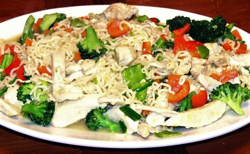 Lemon Chicken Stir-Fry with Ramen Noodles