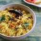 lemon rice with onion & carrot ( video) | easy lunch box recipe