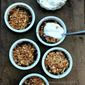 Peach Crisp for two | Fruity summery treat