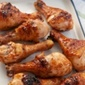 Ginger Peach Barbecued Chicken Legs