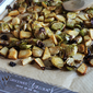 Balsamic Roasted Brussels Sprouts with Apples