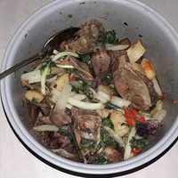 Stir-Fry Pork Ribs with Pechay, Sweet Potatoes & Potatoes