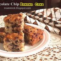 CHOCOLATE CHIP BANANA CAKE RECIPE