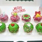 Fruity Christmas Mini Cakes with Edible Toppers
