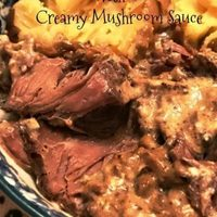 Country Style Beef Ribs in Creamy Mushroom Sauce