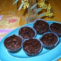 Chocolate Oatmeal Nut Muffins
