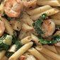 Shrimp, Leek, and Spinach Pasta with Lemon Cream Sauce