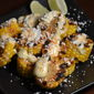 Corn Medallions with Aioli, Cotija Cheese and Lime