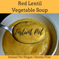 Instant Pot Red Lentil Vegetable Soup