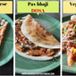 3 street style dosa recipes – chili cheese dosa | pav bhaji dosa | veg pizza dosa