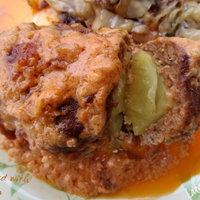 Beef kofte stuffed with potato