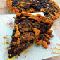 Prune, chocolate and almond tart
