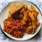 Fish Fingers, Chips & Beans