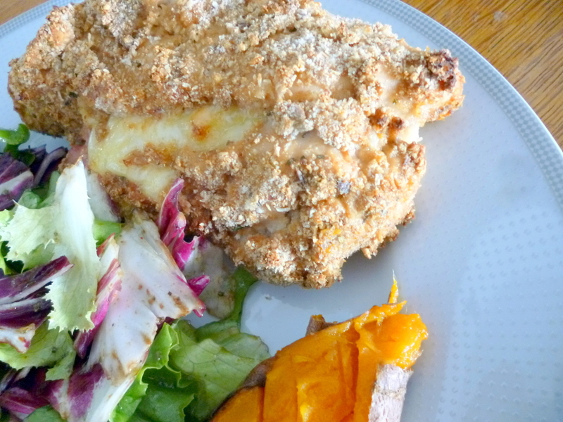 baked 'Cordon Bleu style' Italian stuffed Chicken breast
