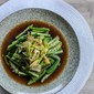 Okra with Garlic and Green Onion