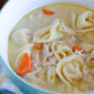 Simple Chicken and Cheese Tortellini Soup