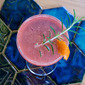 A blood orange and rosemary Sicilian-style French 75.