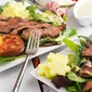 Flat Iron Steak Salad with Yogurt Dressing