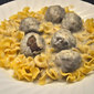 Swedish Meatballs with Egg Noodles; no lutefisk but a new phone
