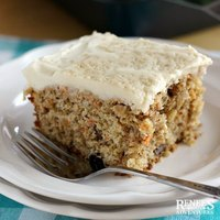 Carrot Cake with Maple-Cream Frosting