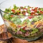 Layered Ham and Broccoli Pasta Salad