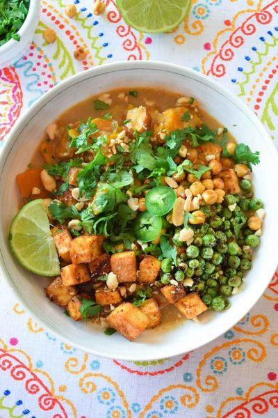 Coconut Curry Tofu Bowl – Vegetarian Recipe