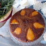 PEAR almond Molasses Spice torte cake