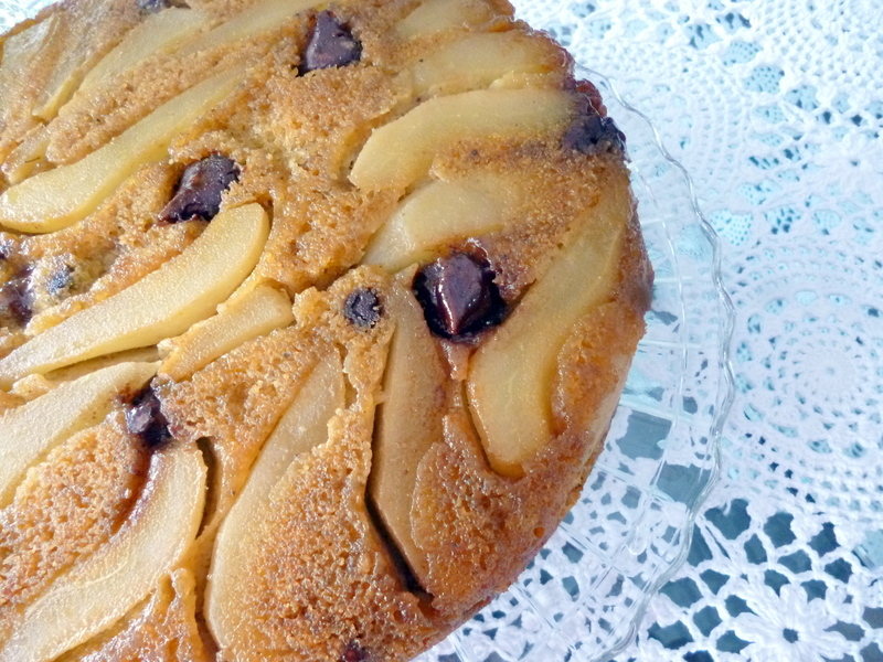 PEAR almond Chocolate Honey Spice cake