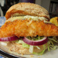 Spicy Chicken Burgers with Coriander-Lime Mayo