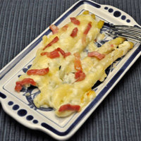 White Asparagus Gratin; cooking for two