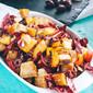 Roasted Beet, Peach & Radicchio Panzanella Salad