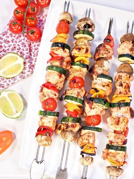 Chili Lime Chicken Skewers