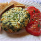 Spinach, Onion & Feta Oven Omelets