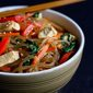 Korean Glass Noodles with Chicken & Vegetables (Japchae Recipe)