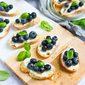 Blueberry & Goat Cheese Crostini Recipe